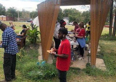 Feeding Greenwood volunteers