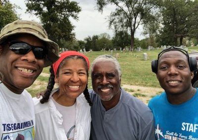Greenwood Cemetery HJW members and Raphael